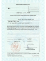cert1 - licencja wspolnota europejska