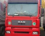 021 - ciężarówka MAN czerwona